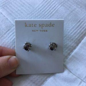 kate spade Jewelry - Kate spade silver sparkle stud earrings nwt
